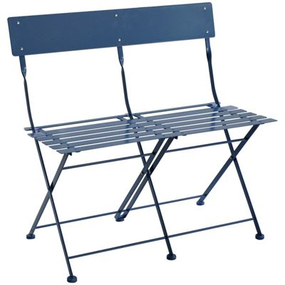 Charles Bentley 2 Seater Folding Bistro Bench Seat Chair Garden Furniture    Navy  Buy from Tesco. Buy Charles Bentley 2 Seater Folding Bistro Bench Seat Chair