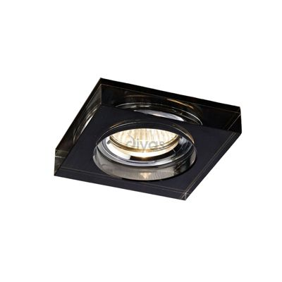 Crystal Downlight Deep Square Rim Only Black