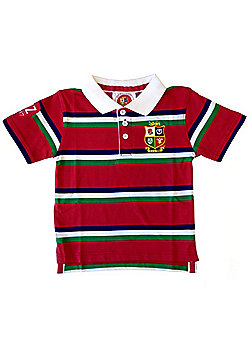British & Irish Lions Rugby Kids Striped Polo Red - Red