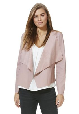 JDY Faux Leather Waterfall Jacket Pink XS