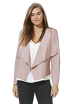 JDY Faux Leather Waterfall Jacket - Pink