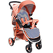 My Babiie MB30 Pushchair (Coral Stripes)