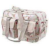 Tesco Floral Baby Changing Bag, Beige Floral