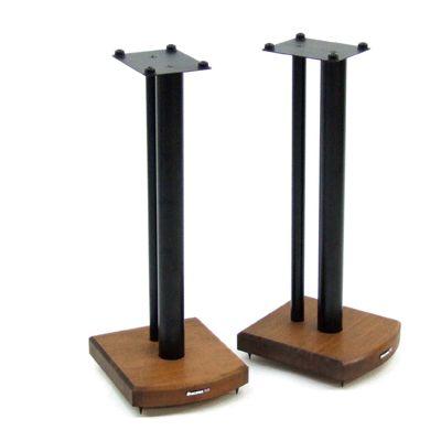 Atacama Moseco 6 Speaker Stands - Dark Bamboo Base + Gloss Black Pole