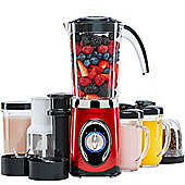 Andrew James Smoothie Maker with Drinking Cups in Red