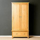 London Oak Double Wardrobe - Light Oak