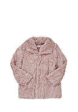 Minoti Teddy Fur Jacket - Pink