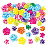 Rose Beads for Children to Create Bracelets and Make Jewellery (Pack of 150)