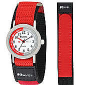 Boys Black and Red Time Teacher Watch