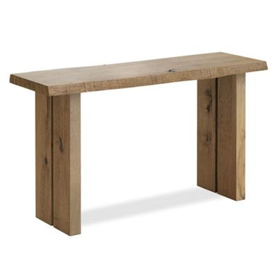 Oak Mill Console Table - Wood Base - Waxed Oak Finish