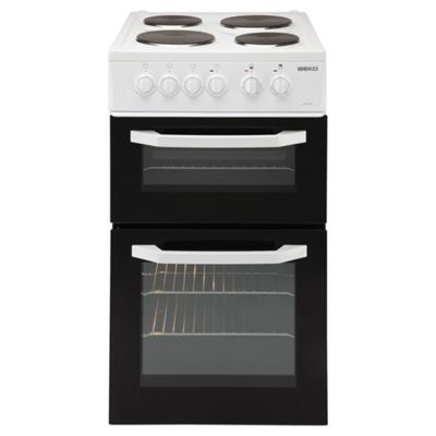 Beko Dual Oven and Grill, Electric Cooker, 50cm Wide, BD531AW - White