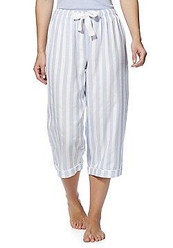 F&F Striped Cropped Lounge Pants - Blue/White