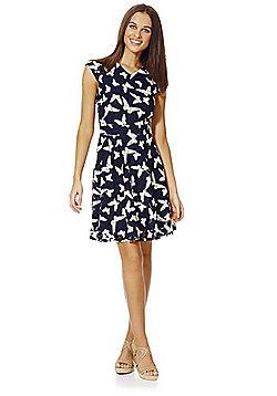 Mela London Lace Butterfly Dress - Navy