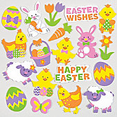 Easter Foam Craft Stickers (Pack of 100)