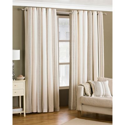 Riva Home Broadway Coffee Eyelet Curtains - 66x72 Inches (168x183cm)