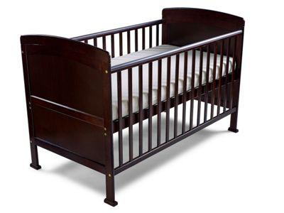 Penelope - Cot Bed/Toddler Bed Sprung Mattress & Teething Rails - Walnut