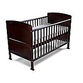Penelope - Cot Bed/Toddler Bed Sprung Mattress & Teething Rails - Walnut
