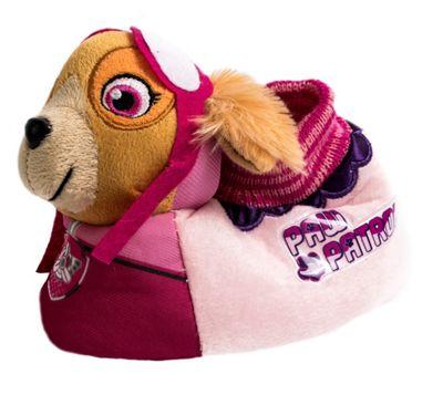 Girls Paw Patrol Skye Slipper Pink Children Kids Novelty 3D Plush Non Slip- UK 6.5