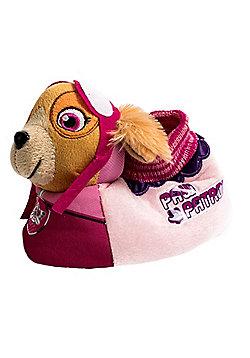 Paw Patrol Skye Pink Childrens 3D Plush Girls Slippers - Pink