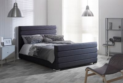 Catherine Lansfield Scandi Charcoal Sleigh Bed - Single