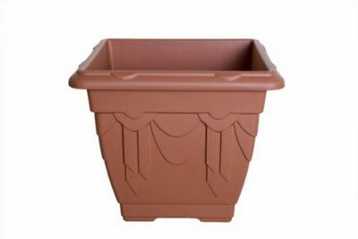 Whitefurze Square Venetian 38cm Terracota Planter
