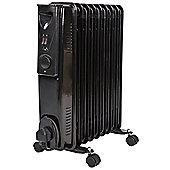 Lowry 2KW Black Oil Filled Radiator - LOFR2004B