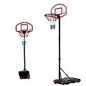Woodworm Adjustable 165-210Cm Portable Basketball Hoop Net System On Wheels