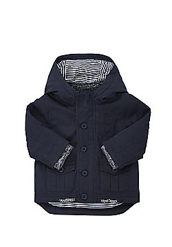 F&F Padded Shower Resistant Mac - Navy