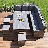 Maze Rattan - Victoria Kingston Corner Sofa Dining Set