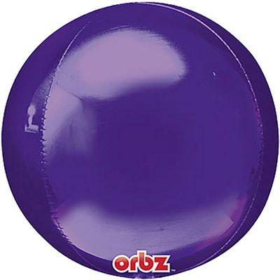 Purple Birthday Orbz Balloon - 25 inch Long Lasting