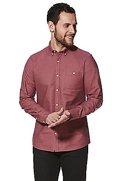 F&F Long Sleeve Oxford Shirt - Raspberry