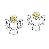 Jo For Girls November Birthstone Guardian Angel Stud Earrings