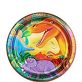 Prehistoric Party Large Paper Plates - 8 Pack