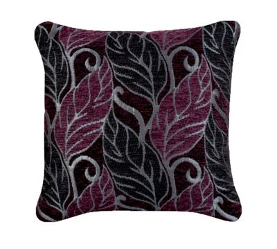 Plum and Black Leaf Cushion Insert Inner Filler Pad Comfortable