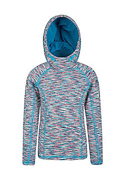 Zakti Girls Kids Motion Mix And Match Isocool Hoodie with Thumbholes in Cuff - Green