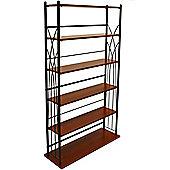 Dakota - Wide 190 Dvd Blu-ray / 270 Cd Media Storage 5 Tier Tower Shelves - Black