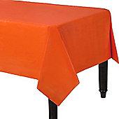 Orange Plastic Tablecover - 1.4m x 2.8m