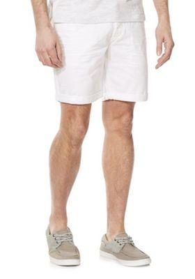 F&F Distressed Denim Shorts White 44 Waist