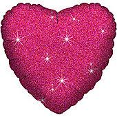 Fuschia Dazzler Heart Balloon - 18 inch Foil