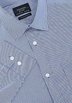 F&F Gingham Regular Fit Long Sleeve Shirt - Blue