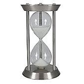 Silver Metal & Glass Hourglass