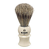 Kent VS10 White Socket Pure Bristle Gel Shaving Brush