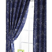Kids Blue and White Curtains 72s