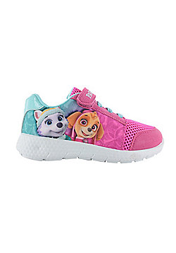 Girls Paw Patrol Pink Sports Trainers Shoes Pumps Skye & Everest Size UK 5-10 - Pink
