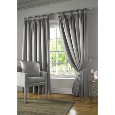 Alan Symonds Silver Burj Pencil Pleat Curtains - 46x54 Inches (117x137cm)