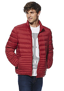 F&F Down Fill Shower Resistant Puffer Jacket - Red