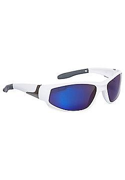 F&F Wraparound Sunglasses White & Blue