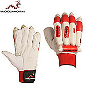 Woodworm Firewall Delta Red Batting Gloves - Boys Left Hand
