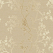 Precious Metals Orabella Wallpaper - Gold - Arthouse 673401