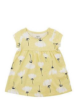 F&F Floral Buttercup Print Dress - Yellow